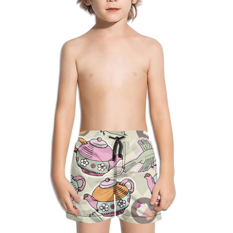 Ouxioaz Boys' Swim Trunk English Royal Tea Party Beach Board Shorts