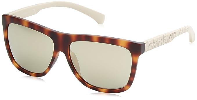 Calvin Klein Jeans Hombre Wayfarer Eye Gafas de sol, Marrón ...