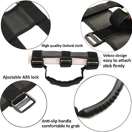 ATV /& UTV Roll Bar High quality Oxford Adjust Straps Grab Handle Hand Hold Black