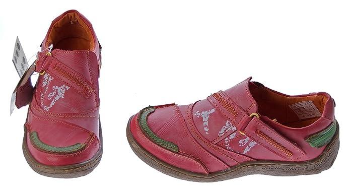 TMA Damen Echt Leder Comfort Schuhe 1901 Halbschuhe Slipper Viele Farben Turnschuhe Sneakers Used Look B00VAKXURY