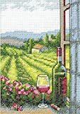 #7: Dimensions 72-08283 Crafts Counted Cross Stitch Kit, Wine with a View