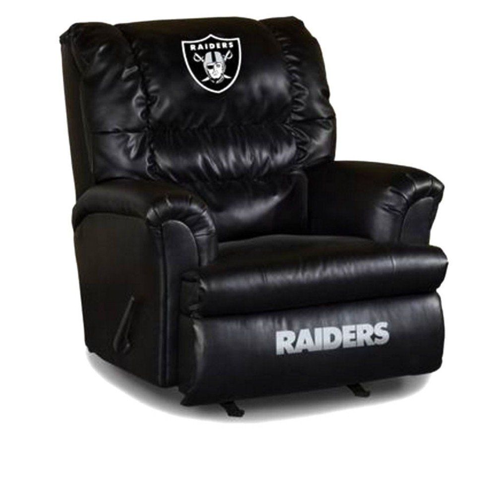 Surprising Imperial Oakland Raiders Leather Big Daddy Recliner Machost Co Dining Chair Design Ideas Machostcouk