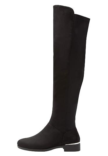 8927c5e8cd304a Anna Field Damen Langschaftstiefel mit Metall Details - Elegante  Overkneestiefel schwarz