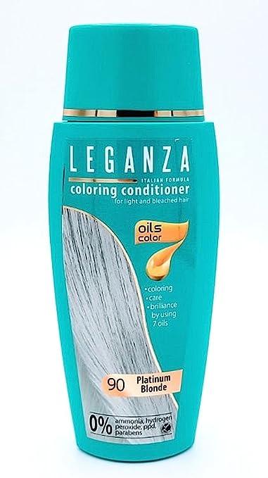 Leganza, 7 aceites naturales, bálsamo para el pelo de color rubio platino 90