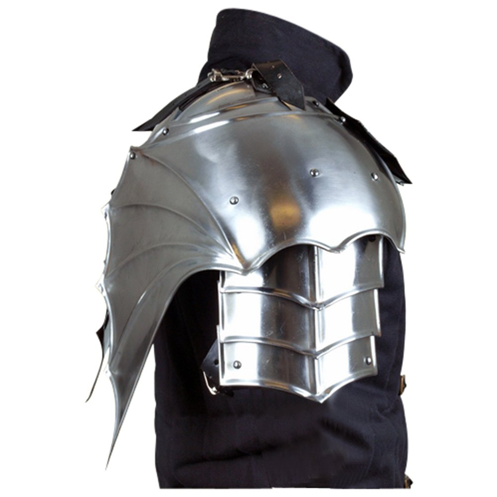 Armor Venue - Gothic Gorget with Pauldrons - Metallic - One Size Armour by Epic Armoury (Image #2)