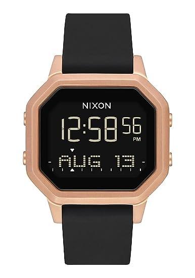 Nixon Siren SS - Reloj digital para mujer, oro rosa, negro, 36 mm: Amazon.es: Relojes