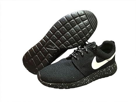 Hombres transpirable de juegos olímpicos de Londres Roshe Run vuelo peso Runner Trail Road Racer Jogging Running Zapatillas calzado zapatillas zapatos de amortiguación negro blanco, hombre, Negro y blanco, EUR41: Amazon.es: Deportes