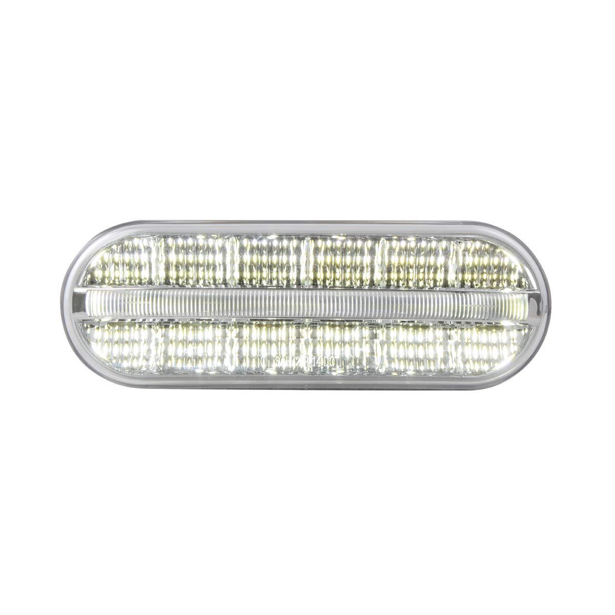 GG Grand General 74854 Sealed Light Oval Prime Spyder White//Clear 14 LED