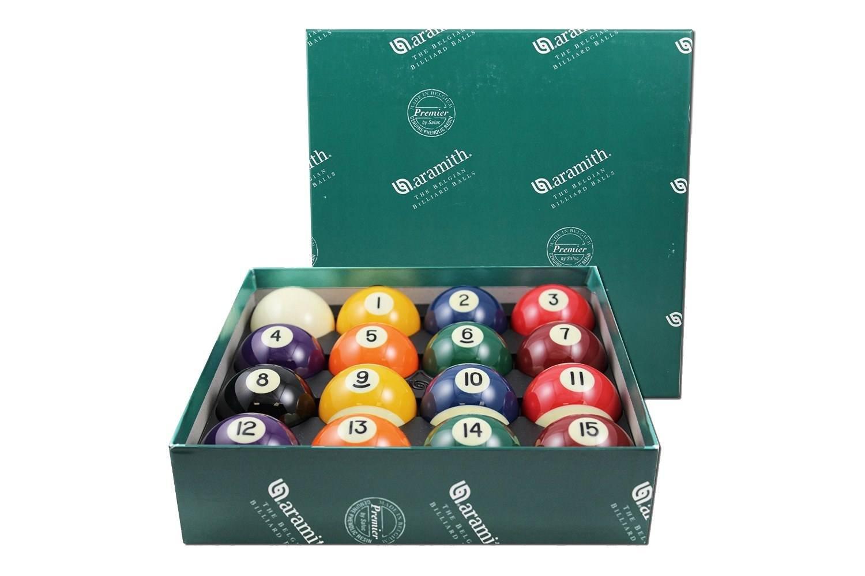 Aramith 2-1/4'' Regulation Size Premier Billiard Balls, Complete 16 Ball Set