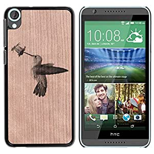- / Hummingbird Flower Nature Pretty - - Funda Delgada Cubierta Case Cover de Madera / FOR HTC Desire 820 D820 d820t / Jordan Colourful Shop/