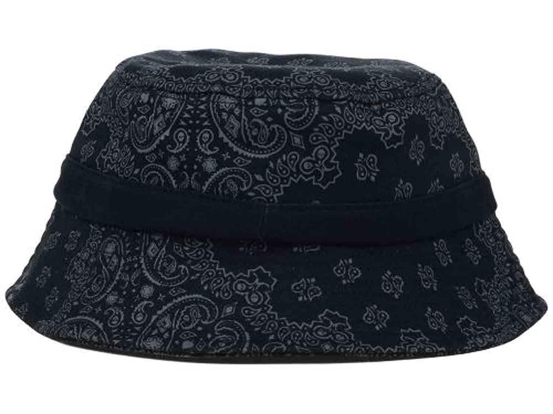 Famous Paisley Black Bucket Hat OSFA