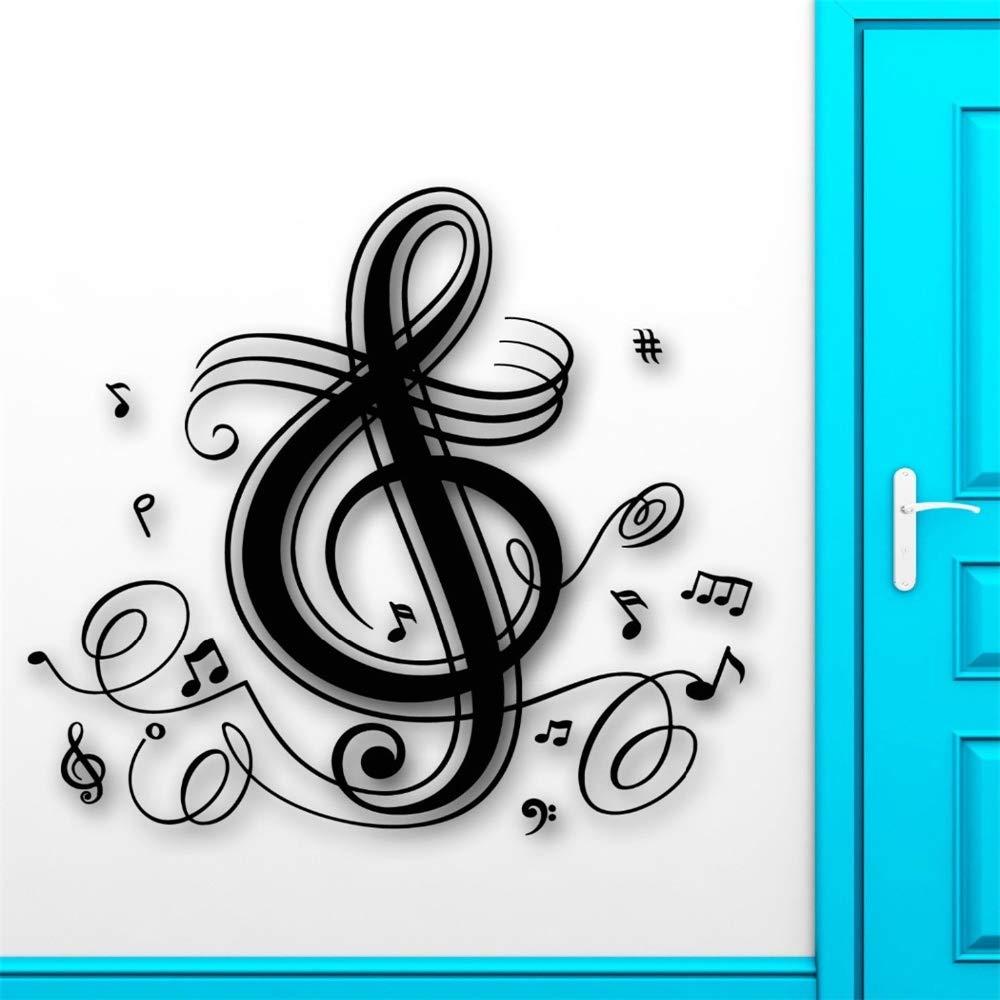 Ajcwhml Tatuajes de Pared Calcomanías de Vinilo Notas de la música ...