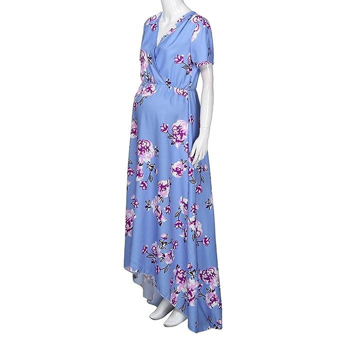 Cinnamou Vestidos de Maternidad para Fiesta,Vestido embarazado floral ocasional de la madre de las