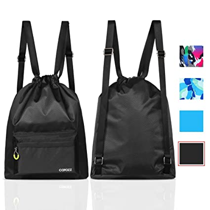 Amazon.com  COPOZZ Waterproof Gym Swimming Drawstring Backpack ... d897ce30d204f