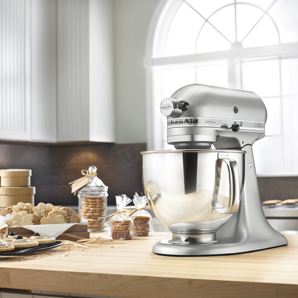 279a5251eed KitchenAid KSM150PSCU Artisan Series 5-Qt. Stand Mixer with Pouring Shield  - Contour Silver - KSM150PSCU   Stand Mixers   Home   Kitchen - tibs