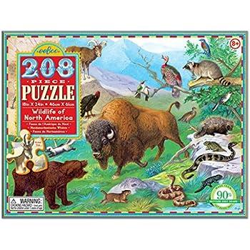eeBoo Wildlife of North America Puzzle, 208 pieces