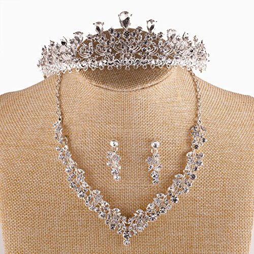 Generic Japan and South Korea to marry high-end custom suit custom tassel necklace hair ornaments jewelry earring vintage Chinese bride crown tiara tiara headdress ()