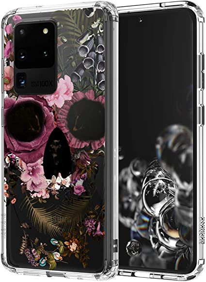 TPU Case for Samsung Galaxy Note 20 Ultra 5G Lightweight Printed Protection Cover Case Flower Skull Customized Design Skin Cover Samsung Galaxy Note 20 Ultra 5G