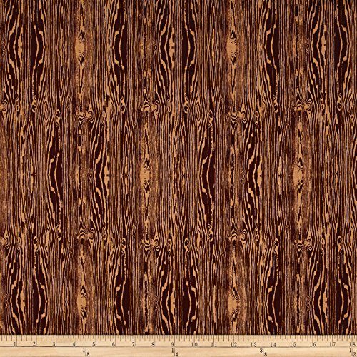 Aviary 2 Woodgrain Bark Brown Fabric By The Yard (Fabric Brown Quilting)