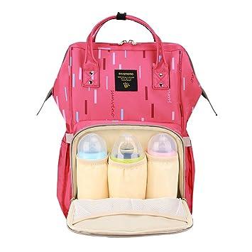 SUNVENO Diaper Bag Mummy Bag Baby Diaper Changing Bag Backpack Nappy Bag  (Rose)