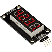 Modulo LED digitale a 4 cifre TM1637 a 4 cifre da 0,36 pollici Modulo driver digitale a 7 segmenti a 6 cifre per Arduino Kit fai da te - Rosso
