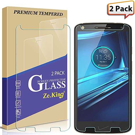[2-Pack] Moto Droid Turbo 2 Tempered Glass, Moto X Force Screen