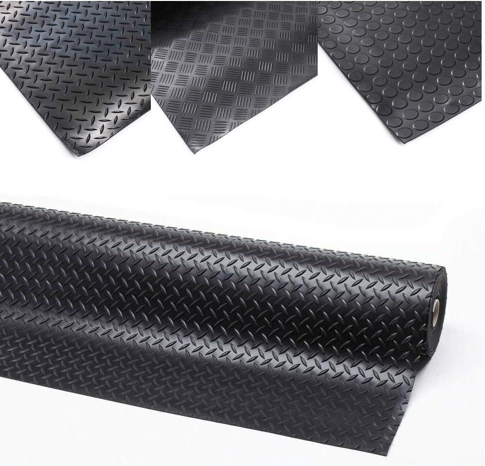 150 x 120 cm 3 breiten Nopenmatte Gummimatte Schutzmatte Noppenmatte Bodenmatte mit Noppen Gummil/äufer 3mm stark