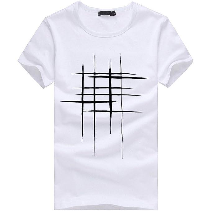 702d9d0c92 Homebaby® Camicia Uomo Elegante Maglietta Manica Corta Casual Stampa - T- Shirt Uomo Sportivi