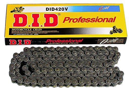Links 100 Chain (D.I.D 420V-102 Steel 102-Link Professional V Series O-Ring Chain with Connecting Link)