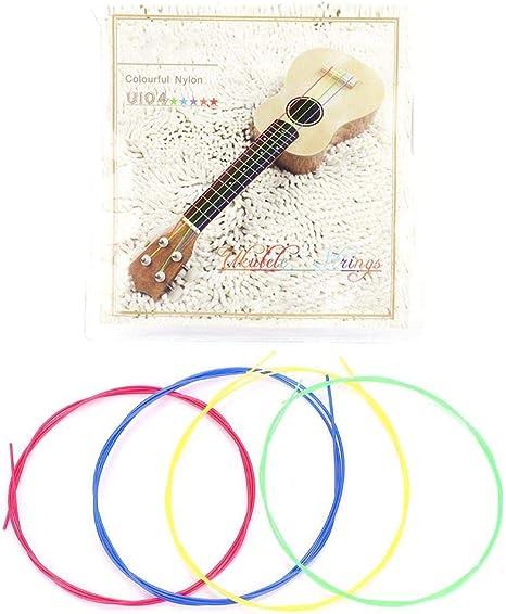Alomejor 4PCS Ukelele String Nylon Ukulele String Set Guitar ...