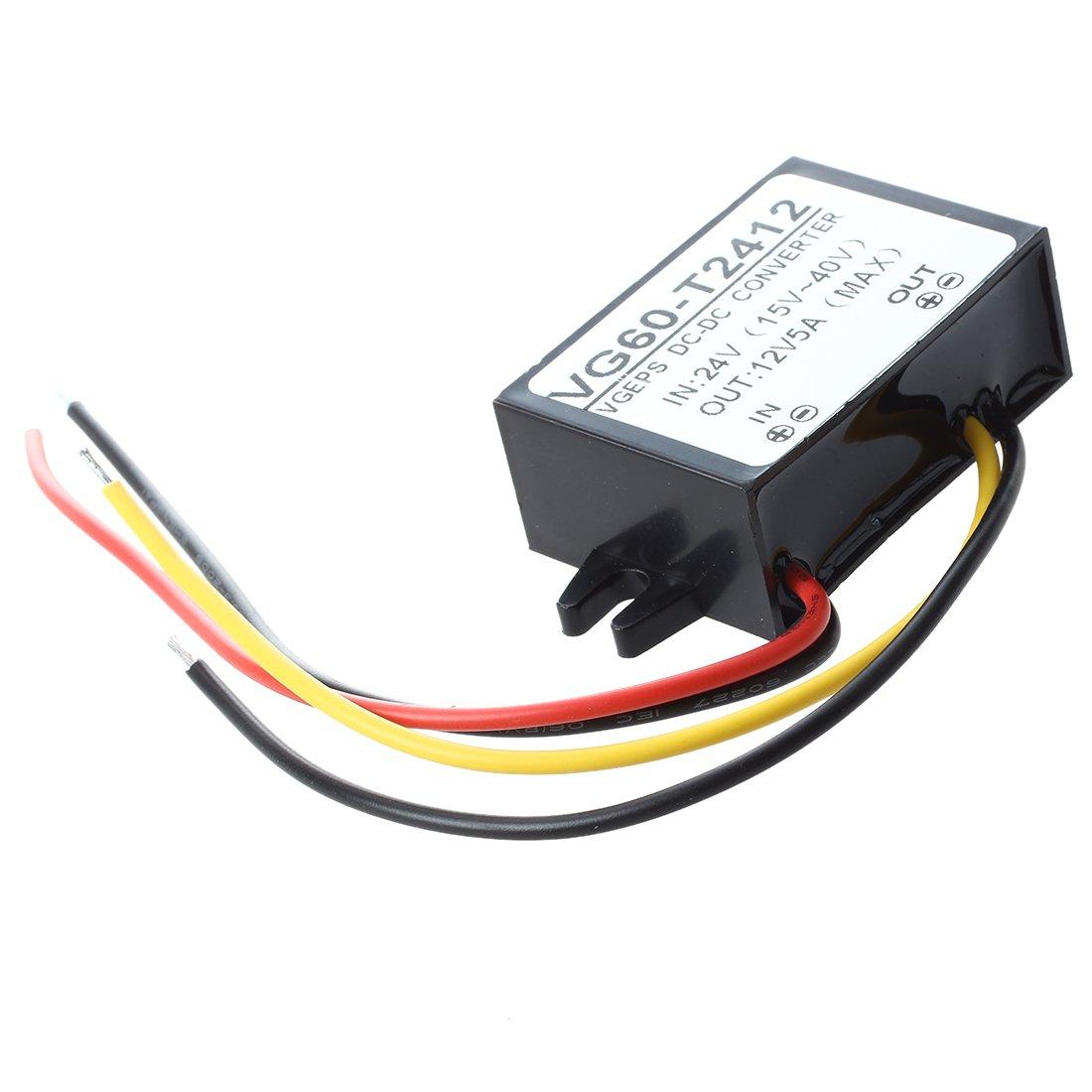 WOVELOT Transformador del voltaje 24V DC a 12V DC
