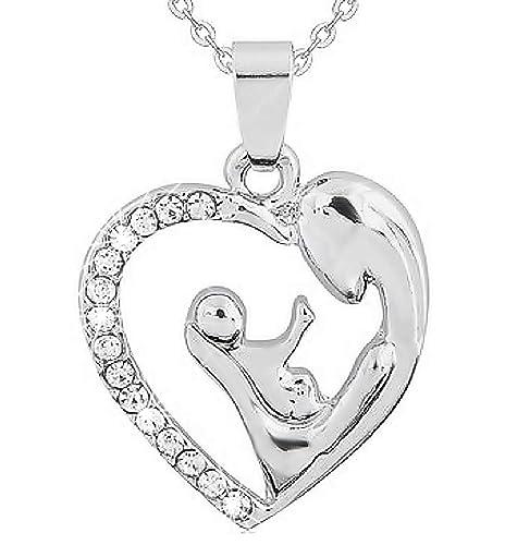Kiralove Halskette Mit Anhänger Herz Mutter Sohn Neugeborene