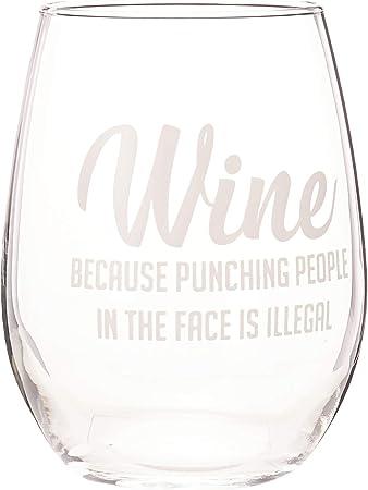 DAS Weinglas, das man nach einem langen harten langen