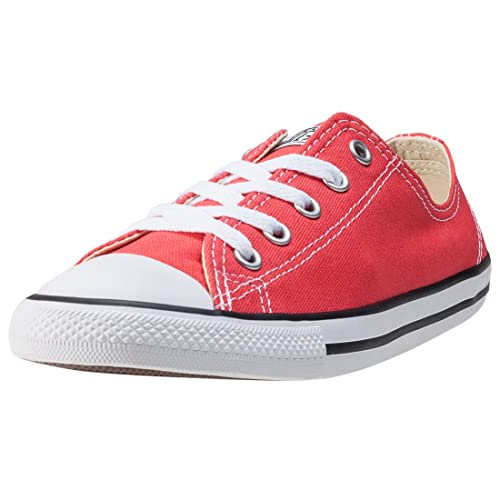 Converse Dainty Canvans Ox Womens Trainers - Coral/Red - 555987C 4