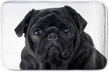 c587719c9e1a Nopersonality Black Pug Dog Door Mat For Bedroom Children s Room Winter  Entrance Doormat Soft Flannel Indoor