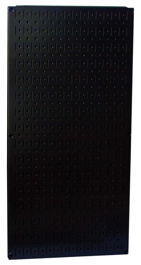 Wall Control 30-P-3216 B 32'' x 16'' Black Metal Pegboard Tool Board Panel
