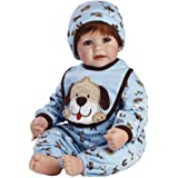 "Adora Toddler WOOF! 20"" Boy Weighted Doll Gift Set for Children 6+ Huggable Vinyl Cuddly Snuggle Soft Body Toy"