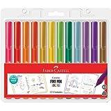 Caneta Ponta Fina, Faber-Castell, Fine Pen Colors, Edição Especial, 12 cores