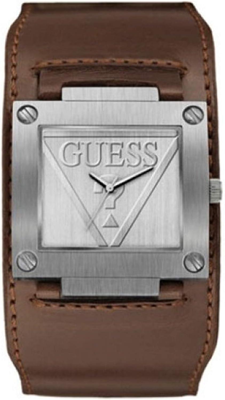 Guess Reloj Analógico para Hombre de Cuarzo con Correa en Cuero 8.43124E+12