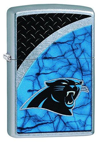 Zippo NFL Carolina Panthers Street Chrome Pocket Lighter
