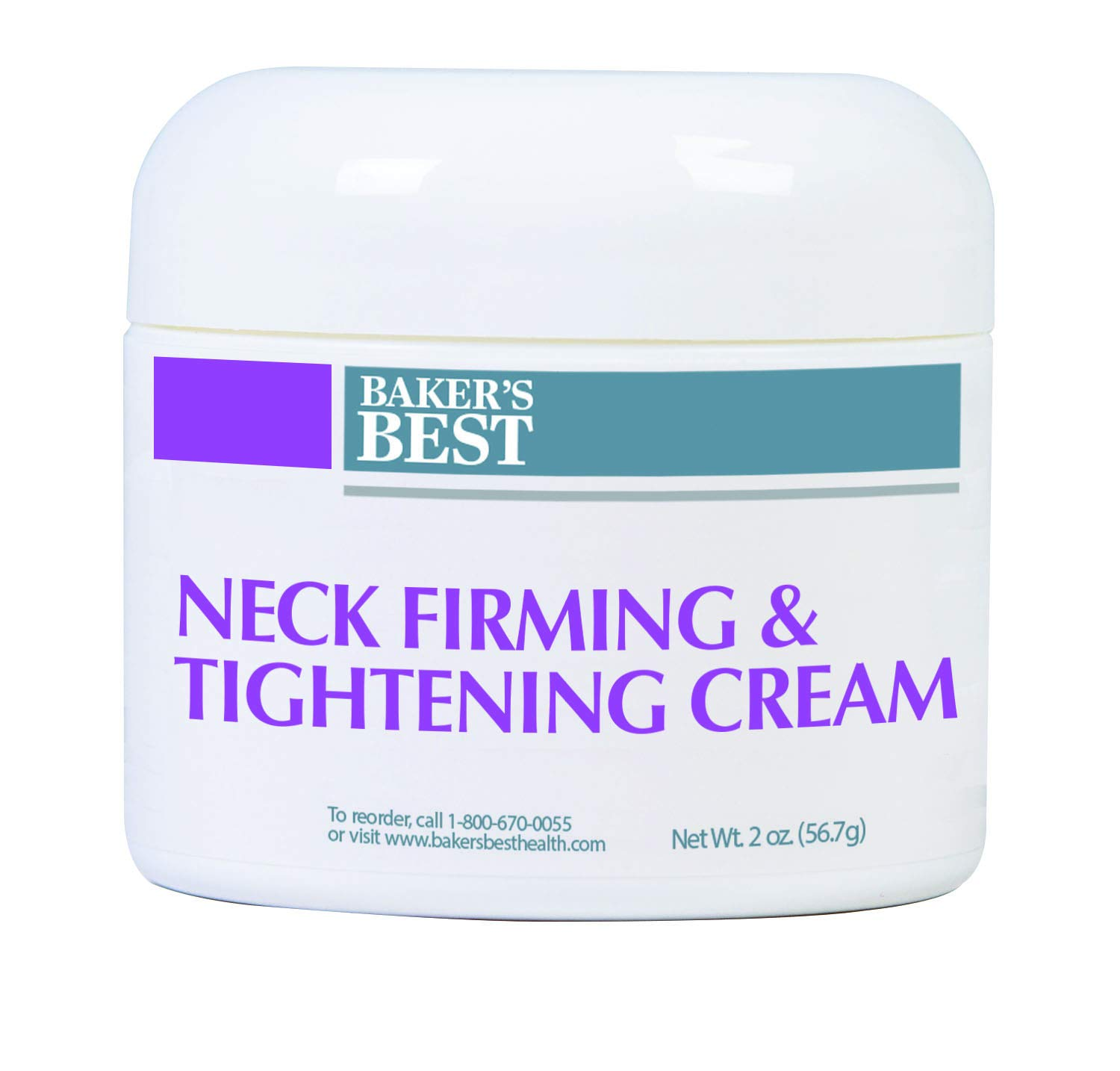 Baker's Best Neck Firming & Tightening Cream – For firming up sagging, aging and crepey skin, décolletage, and wrinkles, collagen-boosting – neck cream for sagging and tightening – 2 oz cream