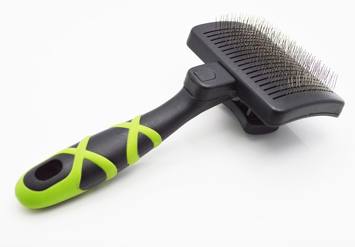 HelloPet USA Small Self-Cleaning Slicker Brush
