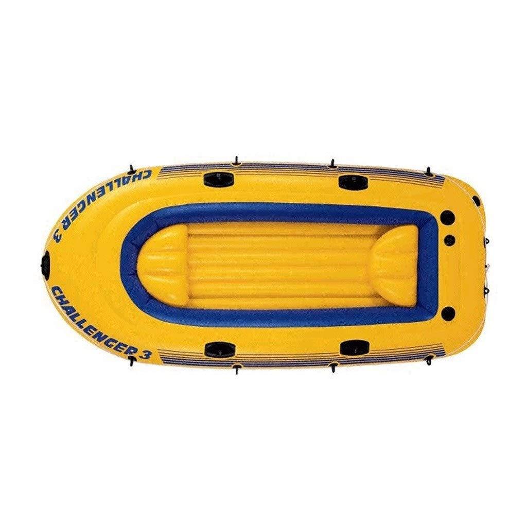 屋外攻撃ボート快適なカヤックレジャー折りたたみボート2人インフレータブルボートマリンスポーツ釣りアドベンチャー厚い耐摩耗性PVCプラスチック236 * 114 * 41cm