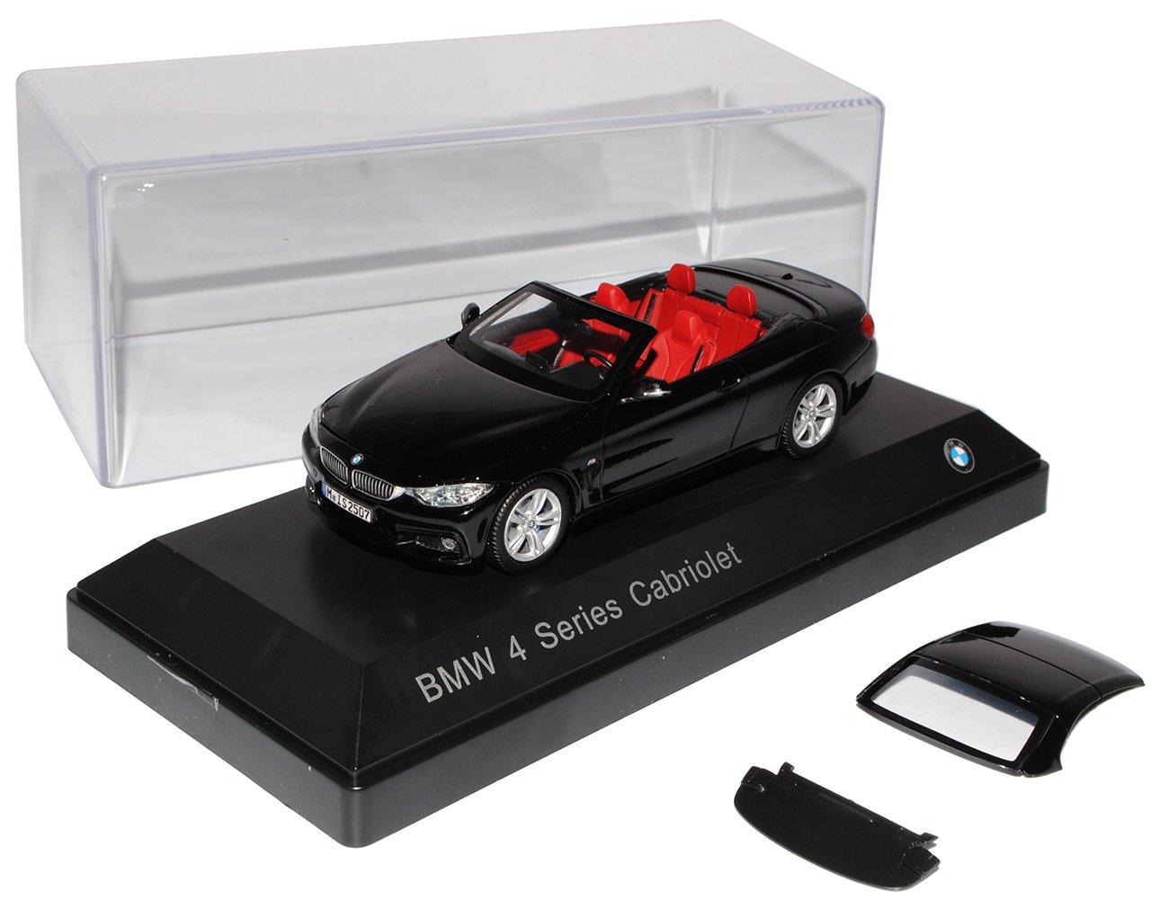 Kyosho BMW 4er Cabrio M F33 Schwarz AB 2014 1/43 Modell Auto mit individiuellem Wunschkennzeichen