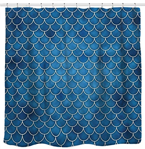 Teal Fabric Shower Curtains for the Bathroom - cover