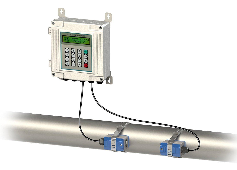 TUF-2000SW-TM-1 Ultrasonic Liquid Flow Meter TUF-2000SW Wall-mounted Digital flowmeter Clamp-on TM-1 Transducer DN50-700mm -30-90 Degree