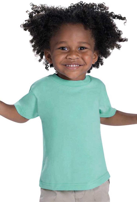 Rabbit Skins Toddler Cotton Crewneck Short-Sleeve T-Shirt