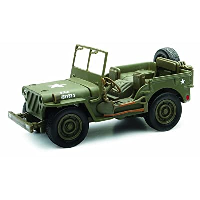 New Ray Jeep Willys US ARMY, Military Green 54133 - 1/32 Scale Diecast Model Toy Car: Toys & Games