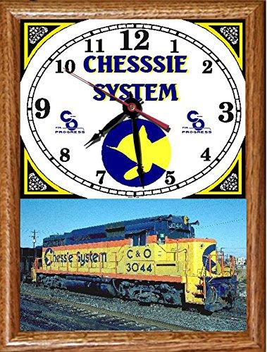 Chessie System - Chessie System Wood Framed Clock
