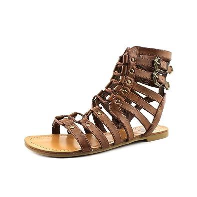 ad7434ad32968e G by GUESS Women s Holmes Tan Sandal 7.5 M
